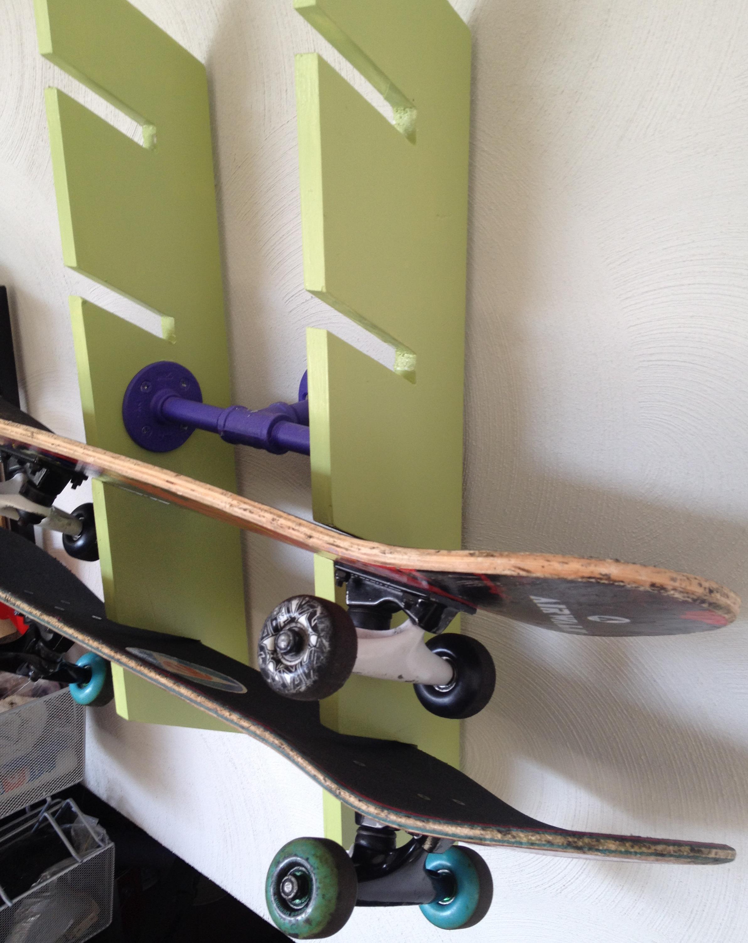 Pdf plans diy skateboard rack plans download diy diy tool for Skateboard chair plans