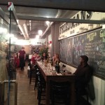 One of the restaurants in Chelsea Market
