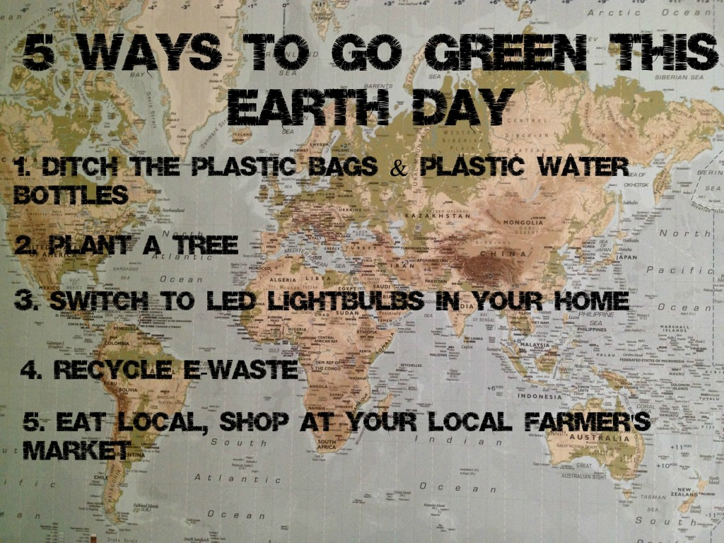 5 Ways To Go Green This Earth Day