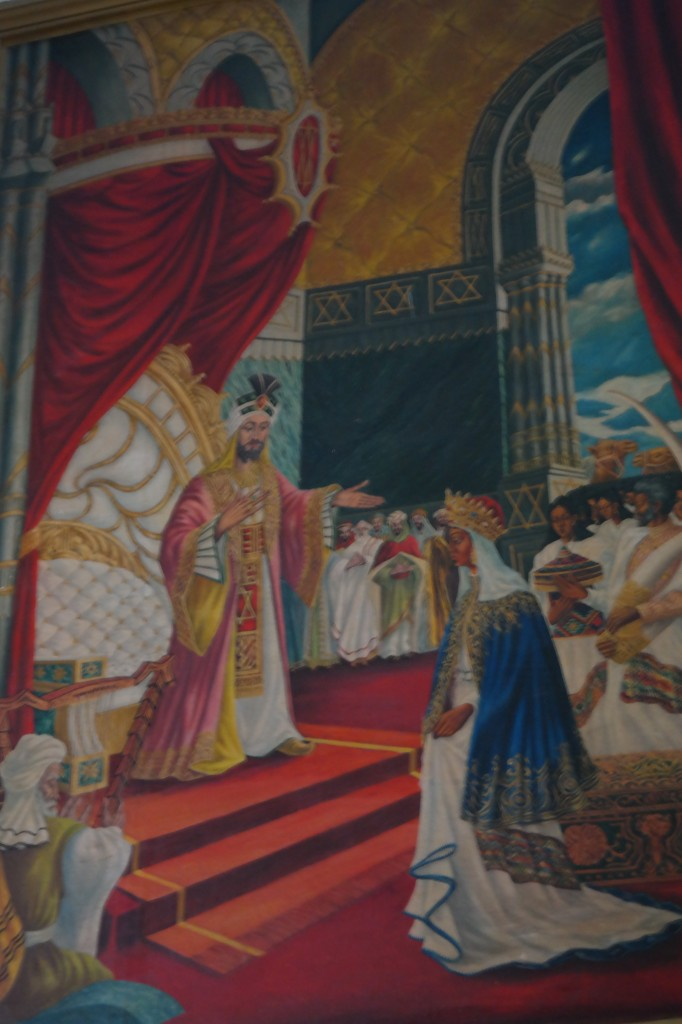 Painting in St. Georges Church of Queen Sheba and King Solomon