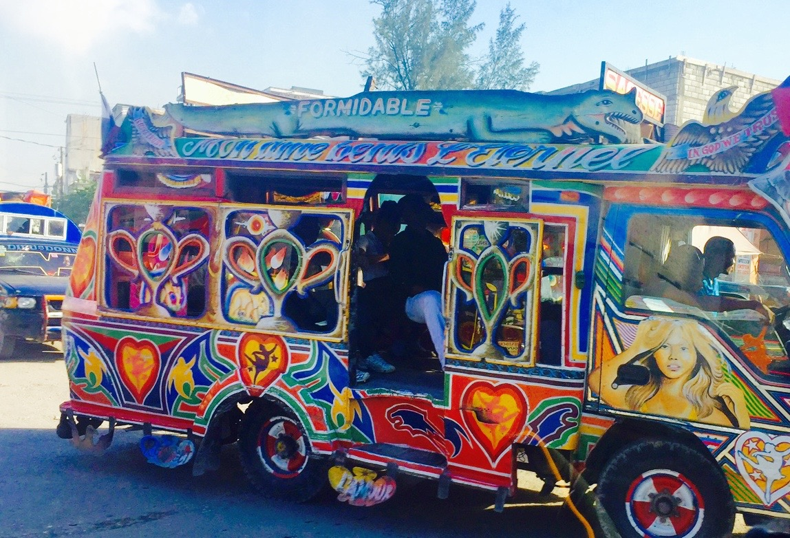 A Tap-Tap bus in Port-au-Prince